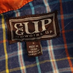 Cowgirl Up Tops - Cowgirl Up Western Shirt  Size Small
